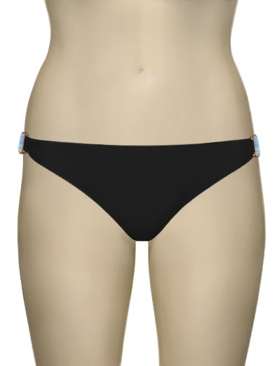 Voda Swim Natural Stone Scoop Bikini Bottom B09 - Black