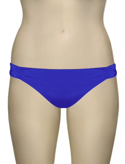 Voda Swim Ruched Scoop Bikini Bottom B33 - Royal