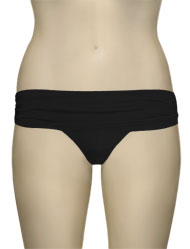 Voda Swim Shirred Band Bikini Bottom B18 - Black