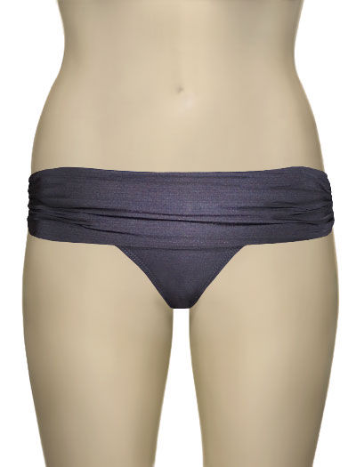 Voda Swim Shirred Band Bikini Bottom B18 - Charcoal
