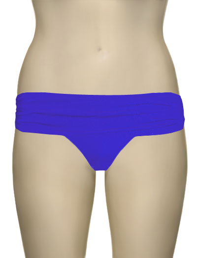 Voda Swim Shirred Band Bikini Bottom B18 - Royal