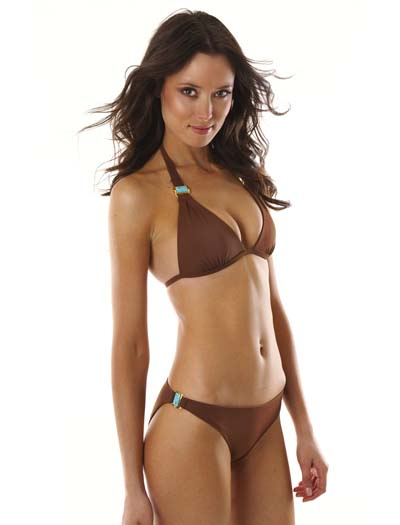 Voda Swim Turquoise Stone Envy Push Up Bikini Top E09 - Cocoa