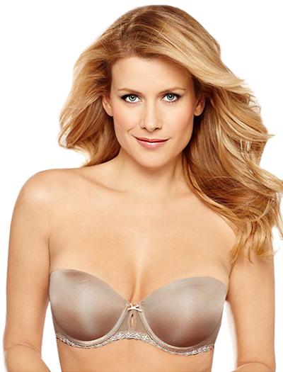 B.tempt'd Faithfully Yours Strapless Push Up Bra 954108 - Au Natural