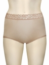 Wacoal BodySuede Brief With Lace Waist 89366 - French Nude