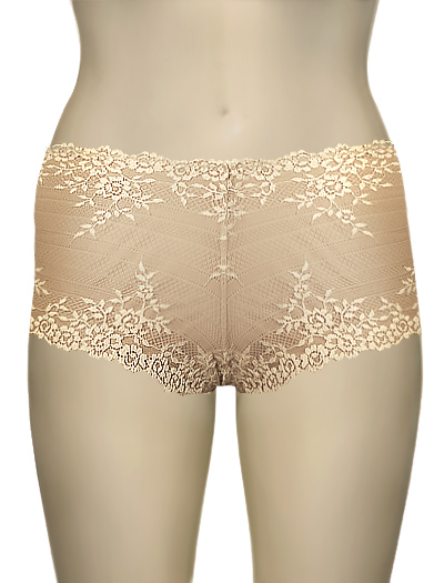 Wacoal Embrace Lace Boyshort 67491 - Natural / Ivory