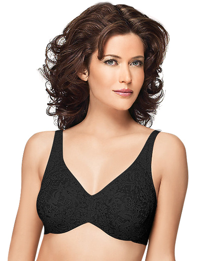 Wacoal Halo Lace Underwire Bra 65547 - Black