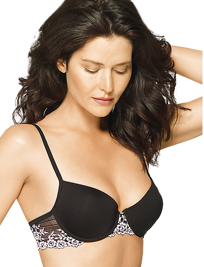 Wacoal Petites Embrace Lace Push Up Bra 75891 - Black