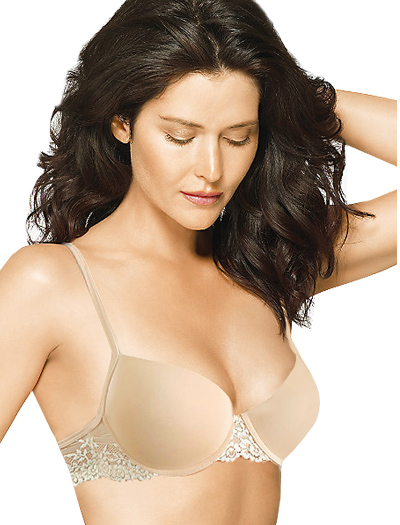 Wacoal Petites Embrace Lace Push Up Bra 75891 - Nude