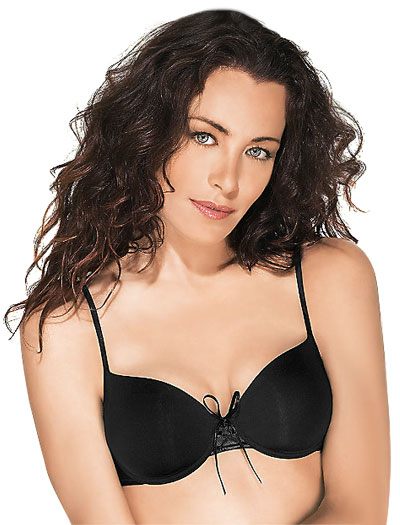 Wacoal Petites Lace Up Contour Bra 75627 - Black