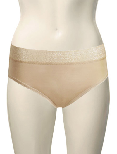 Wacoal Simple Pleasures Hi-Cut Brief 87184 - Nude