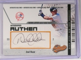 2003 Fleer Authentix 2nd Row Derek Jeter autograph auto #d32/150 #AA-DJ