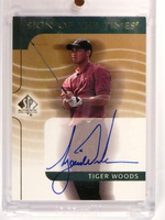 2003 Sp Authentic Sign Of The Times Tiger Woods autograph auto #TW