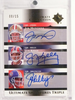 2005 Ultimate Triple Joe Montana Jim Kelly John Elway autograph auto /15