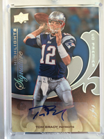 2008 Upper Deck UD Premier Highlights Tom Brady autograph auto #D 1/1
