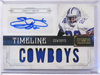 2011 National Treasures Timeline Emmitt Smith autograph auto patch #D2/5