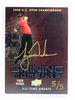 2012 Upper Deck All-Time Greats Shining Tiger Woods autograph auto #D5/5