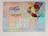 2015 Topps Triple Threads Mike Trout autograph auto bat #D18/18 #TTAR-MT3