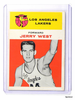 61-62 Fleer Jerry West #43 Rc rookie #43 EX