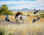 "<font size=""2"" font color=""red"">NEW</font> German Shorthaired Pointer: Mearn's Country - giclee on paper"