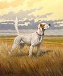 "<font size=""2"" font color=""red"">NEW</font> Setter: ""2x Nat. Ch. Shadow Oak Bo"" - giclee"