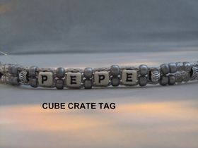 CRATE TAG - CUBE LETTERS