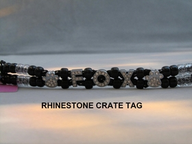 CRATE TAG - RHINESTONE LETTERS