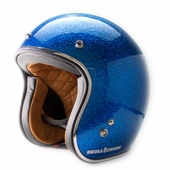 Blue Metal Flake Vintage DOT Helmet