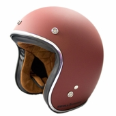 Red Primer Vintage DOT Helmet