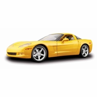 1/18 '05 Corvette C6 Coupe toy car - Yellow