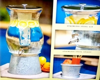 2.5 Gallons Beverage Dispenser with Ice Core and Spigot