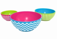 3 Pc Fresh Chilled Serving Bowls set with Lids
