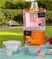Decorative Beverage Dispensers set with Chalk Tag