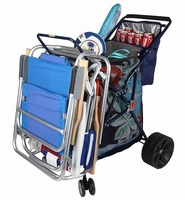 Foldable Beach Cart with Ten incn Wheel and Cooler