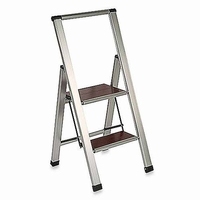 Folding Step Ladder with Hardwood Steps