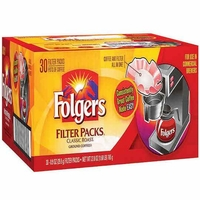 Folgers Classic Roast Filter Packs coffee -.9 oz. Packs - 30 ct.