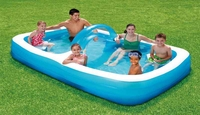 Inflatable Family Pool with removable arch