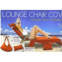 Lounge Chair Cover - Red Size: 29in x 85in