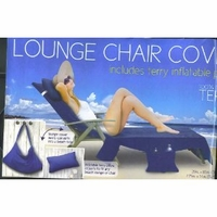 Lounge Chair Cover with pockets & pillow - Blue Size: 29in x 85in