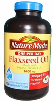 nature made Organic flaxseed oil 1400 mg - 300 Liquid softgels