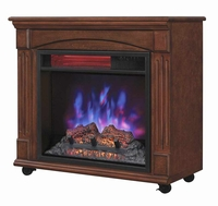 Powerheat Infrared Rolling Mantel Quartz Fireplace