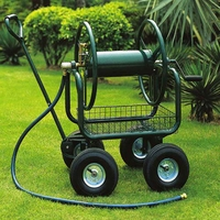 Steel Tube Hose Reel Cart With / Wire Basket