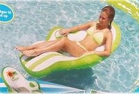 Tahiti Tropical Floating Lounge with cup holder