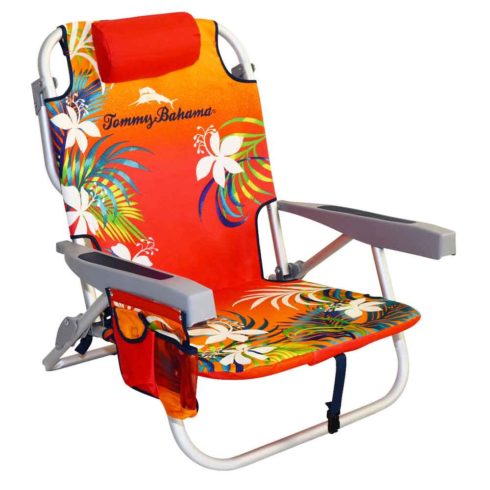 Tommy Bahama Chair Backpack Floral Orange
