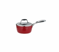 Tramontina 1.5-qt Nonstick Enamel-Coated Covered Saute Pan: Red