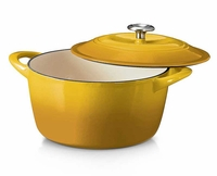 Tramontina 6.5 Qt.Cast Iron Dutch Oven Yellow