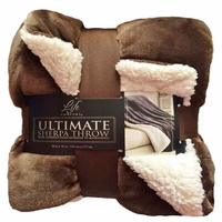 Ultimate Life Comfort Soft Sherpa Throw Blanket