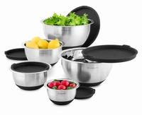 Wolfgang Puck 10 Piece Nonslip Stainless Steel Mixing Bowls w-Lids