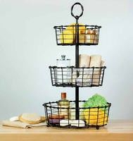 Wrought-Iron 3-Tier Basket