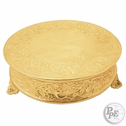 "Round 18"" Gold plated Cake Plateau"