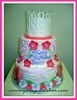 Yum Yum Cakes - pretty princess tiara birthday cake